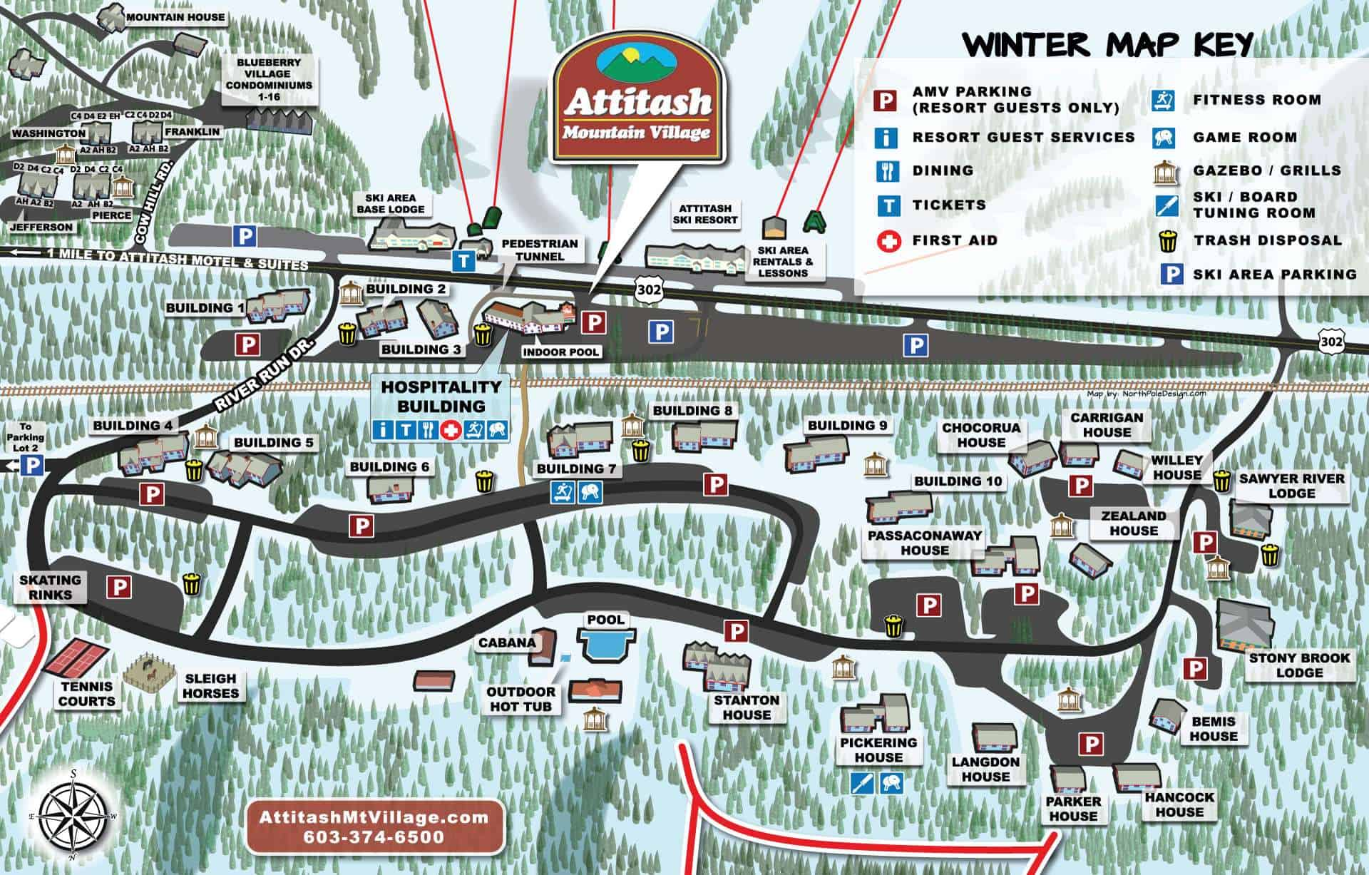 Winter resort map