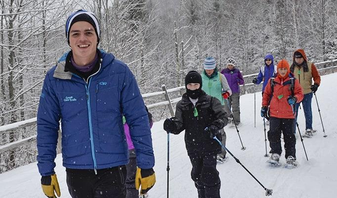 Snowshoeing at Great Glen